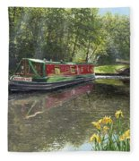 Kathleen May Chesterfield Canal Nottinghamshire Fleece Blanket