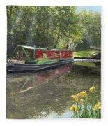 Kathleen May Chesterfield Canal Nottinghamshire Fleece Blanket