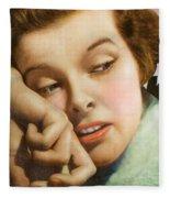 Kathryn Hepburn Fleece Blanket