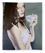 Katie - Morning Cup Of Tea Fleece Blanket