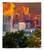 Katrina Storm Hits Cincinnati Fleece Blanket