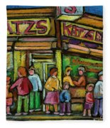 Katz's Deli Fleece Blanket