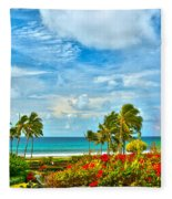 Kauai Bliss Fleece Blanket