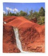 Kauai Red Dirt Waterfall Fleece Blanket
