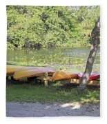 Kayak Rentals Fleece Blanket