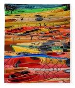 Kayak Spectrum Fleece Blanket
