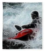 Kayaker 2 Fleece Blanket