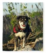 Kayaker's Best Friend Fleece Blanket