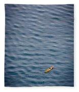 Kayaking Alone Fleece Blanket