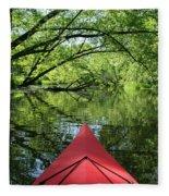 Kayaking Backwater Mississippi 1 Fleece Blanket