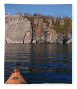 Kayaking Beneath The Light Fleece Blanket