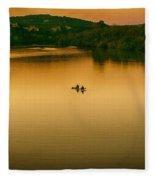 Kayaking On Lady Bird Lake Fleece Blanket