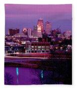Kc Skyline-1990 Fleece Blanket