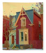 Keep A Light In The Window Til I Come Home Again Winter House Pointe St Charles City Scene Cspandau  Fleece Blanket