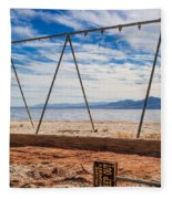 Keep Out No Playing Here Swing Set Playground Fleece Blanket