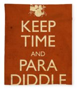 Keep Time And Paradiddle Poster Fleece Blanket