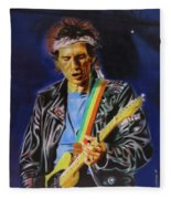 Keith Richards Of Rolling Stones Fleece Blanket
