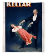 Kellar Levitation Vintage Magic Poster Fleece Blanket