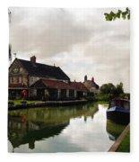Kennett Amd Avon Canal Uk Fleece Blanket