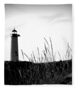 Kenosha North Pier Lighthouse Fleece Blanket