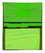 Kensington Gardens Series Green On Green Oil On Canvas Fleece Blanket