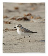 Kentish Plover Fleece Blanket