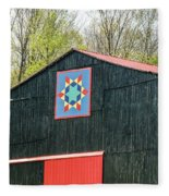 Kentucky Barn Quilt - 2 Fleece Blanket