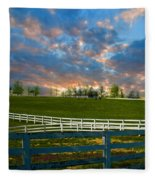 Kentucky Famous Horse Hotel Fleece Blanket