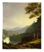 Kentucky Landscape 1832 Fleece Blanket