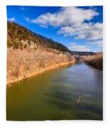 Kentucky River Palisades Fleece Blanket