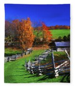 Kentucky Settlement Fleece Blanket