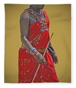 Kenya Warrior Fleece Blanket