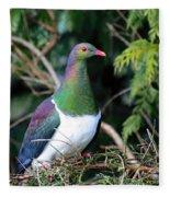 Kerehu - New Zealand Wood Pigeon Fleece Blanket