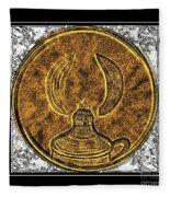 Kerosene Lamp - Brass Etching Fleece Blanket
