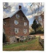 Kerr Grist Mill Panorama Fleece Blanket