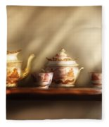 Kettle - My Grandmother's Chinese Tea Set  Fleece Blanket