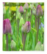 Keukenhof Gardens 12 Fleece Blanket