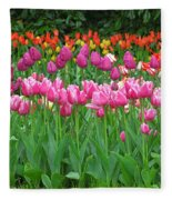 Keukenhof Gardens 14 Fleece Blanket