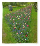 Keukenhof Gardens 26 Fleece Blanket