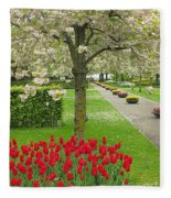 Keukenhof Gardens 33 Fleece Blanket