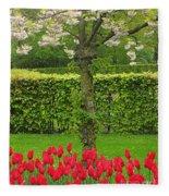 Keukenhof Gardens 34 Fleece Blanket