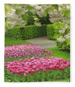 Keukenhof Gardens 35 Fleece Blanket