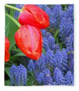 Keukenhof Gardens 4 Fleece Blanket