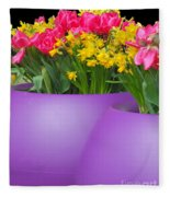 Keukenhof Gardens 48 Fleece Blanket
