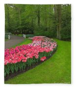 Keukenhof Gardens 51 Fleece Blanket