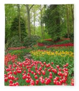 Keukenhof Gardens 53 Fleece Blanket