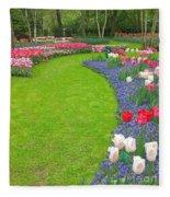 Keukenhof Gardens 54 Fleece Blanket