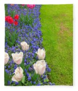 Keukenhof Gardens 55 Fleece Blanket