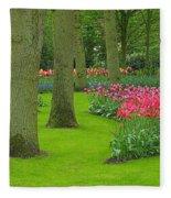 Keukenhof Gardens 60 Fleece Blanket