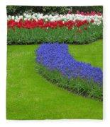 Keukenhof Gardens 62 Fleece Blanket